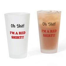 Red Shirt Woes Drinking Glass