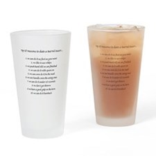 Barrel Racing Humor Drinking Glass