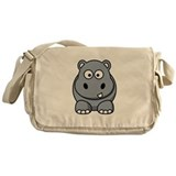 Cartoon Hippopotamus Messenger Bag
