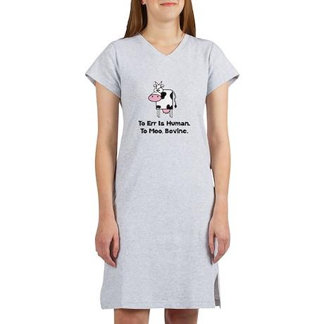 To Moo Bovine Women's Nightshirt