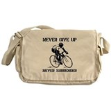 Never Give Up Biker Messenger Bag