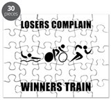 Triathlon Winners Train Puzzle