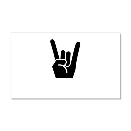 Rock On Sign Car Magnet 20 x 12