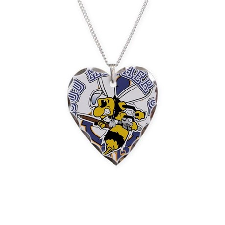 SeaBee Mother t-shirt Necklace Heart Charm