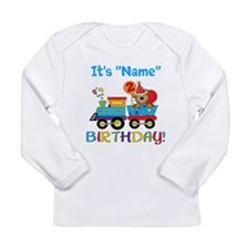 2nd Birthday Bear Train Long Sleeve Infant T-Shirt