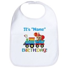 2nd Birthday Bear Train Bib