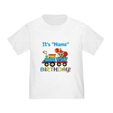 2nd Birthday Bear Train T