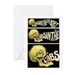 L'Absinthe c'est la mort II Greeting Cards (Packag