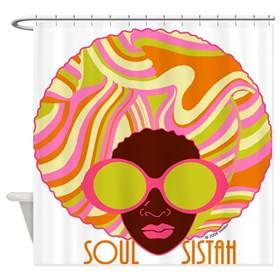 Soul Sistah Brown Shower Curtain