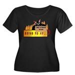 Going to Hell? Women's Plus Size Scoop Neck Dark T