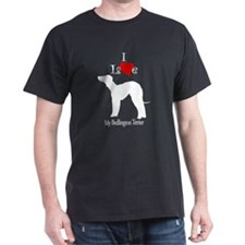 Bedlington Terrier Black T-Shirt
