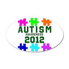 Autism Awareness 2012 38.5 x 24.5 Oval Wall Peel