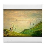 Cliffs Walk at Pourville, Monet, Tile Coaster