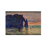 Monet Painting, Etretat, Rectangle Magnet