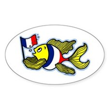 French Flag Fish Decal