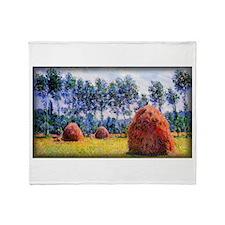 Monet Painting, Haystacks at Giverny Stadium Blan