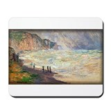 Heavy Sea at Pourville, Monet, Mousepad