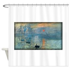 Impression, Sunrise, Monet, Shower Curtain
