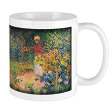 Monet Painting, In the Garden, 1895, Mug