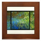 Iris at the Sea-Rose Pond Monet, Framed Tile