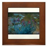 Irises and Water-Lilies Monet, Framed Tile