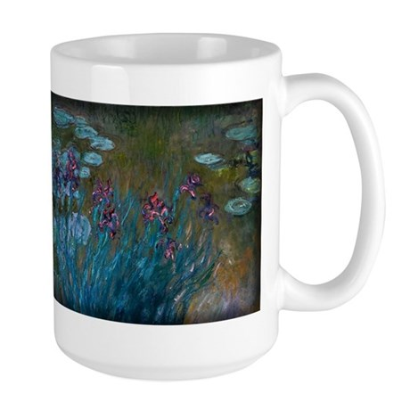 Irises and Water-Lilies Monet, Large Mug