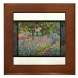 Irises in Monet's Garden 03 Monet, Framed Tile