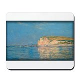 Low Tide at Pourville 02, Monet, Mousepad