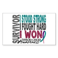 Survivor 4 Thyroid Cancer Shirts and Gifts Decal