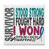 Survivor 4 Thyroid Cancer Shirts and Gifts Tile Co