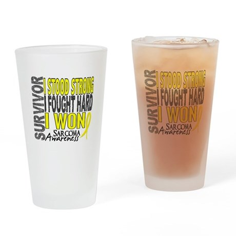 Survivor 4 Sarcoma Shirts and Gifts Drinking Glass