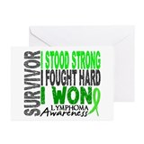 Survivor 4 Lymphoma Shirts and Gifts Greeting Card