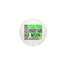 Survivor 4 Lymphoma Shirts and Gifts Mini Button (