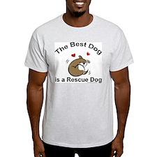 Best Rescue Dog Ash Grey T-Shirt