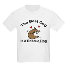 Best Rescue Dog Kids T-Shirt