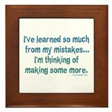 Learning From Mistakes Framed Tile