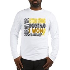 Survivor 4 Childhood Cancer Shirts and Gifts Long