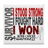 Survivor 4 Bone Cancer Shirts and Gifts Tile Coast
