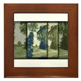 Road to the Saint-Simeon Farm, Monet, Framed Tile