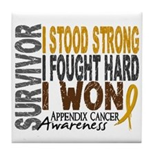 Survivor 4 Appendix Cancer Shirts and Gifts Tile C