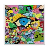 Eye Art Tile Coaster