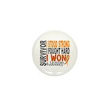 Survivor 4 Leukemia Shirts and Gifts Mini Button (