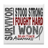 Survivor 4 Brain Tumor Shirts and Gifts Tile Coast
