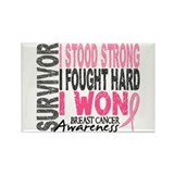 Survivor 4 Breast Cancer Shirts and Gifts Rectangl