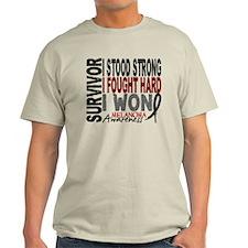 Survivor 4 Melanoma Shirts and Gifts T-Shirt