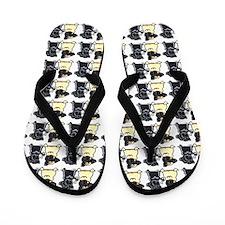 Lotsa Pugs White Flip Flops