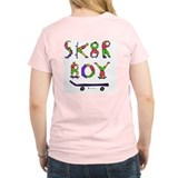 Skater Boy Women's Pink T-Shirt