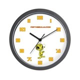 Yellow N.E.L.F Wall Clock