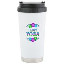 Yoga Love Ceramic Travel Mug