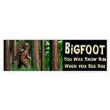Bigfoot Bumper Sticker 50 pk